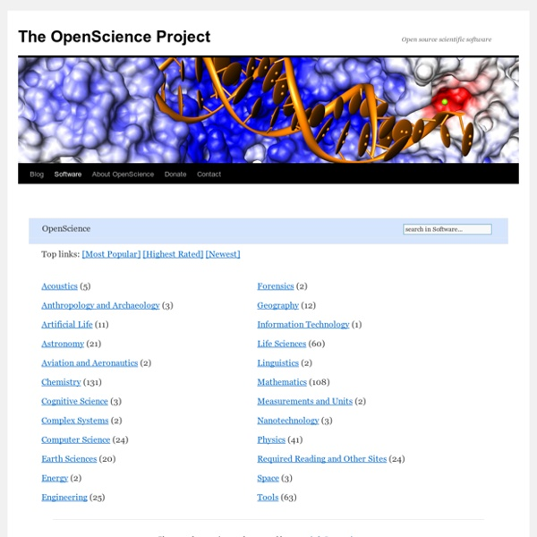 Openscience.org: Open Source Science Software