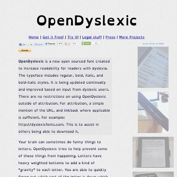Open Dyslexic - Dyslexia Fonts