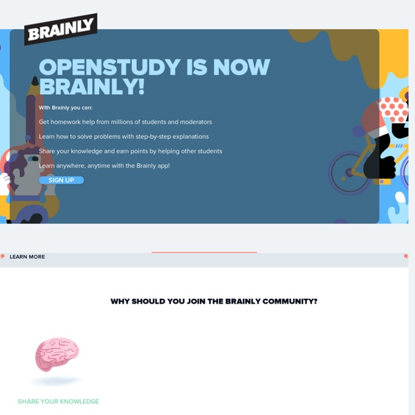OpenStudy – Make the World Your Study Group
