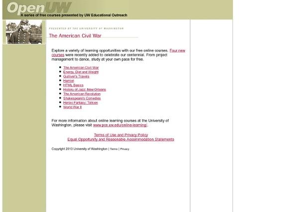 OpenUW Free Courses