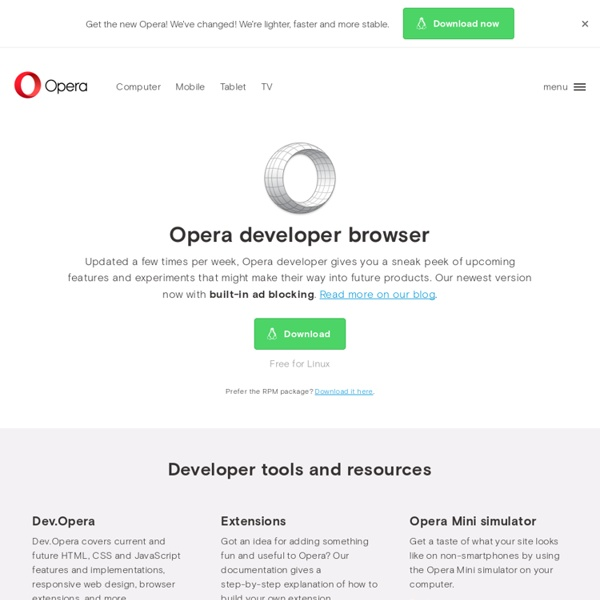 Opera Developer Tools