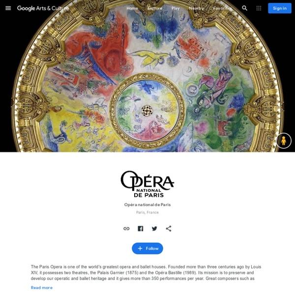 Visite virtuelle de l'Opéra national de Paris — Google Arts&Culture