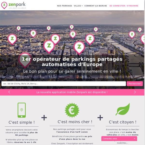 Zenpark - 1er opérateur de parking partagé en France