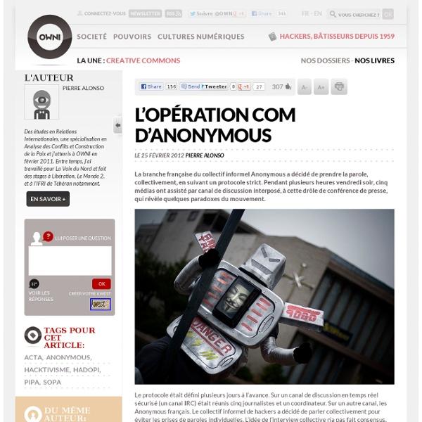 L'opération com d'Anonymous