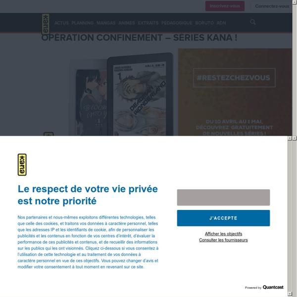 Opération confinement des éditions Kana : des tomes 1 à lire gratuitement