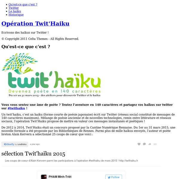 Opération Twit'Haiku