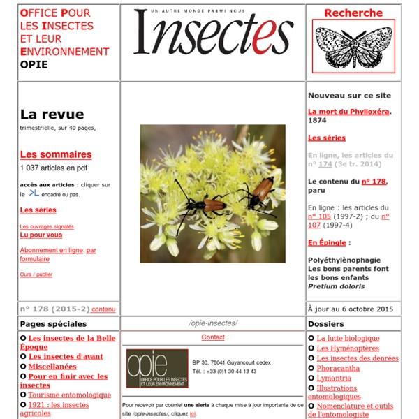 OPIE-Insectes