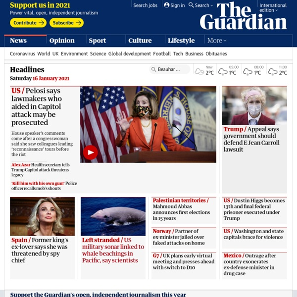 News, sport and opinion from the Guardian's global edition