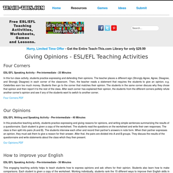 What esl topics for conversation for adults