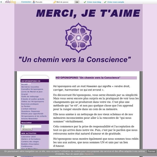 "HO'OPONOPONO ""Un chemin vers la Conscience"" - AMOUR ET GRATITUDE"