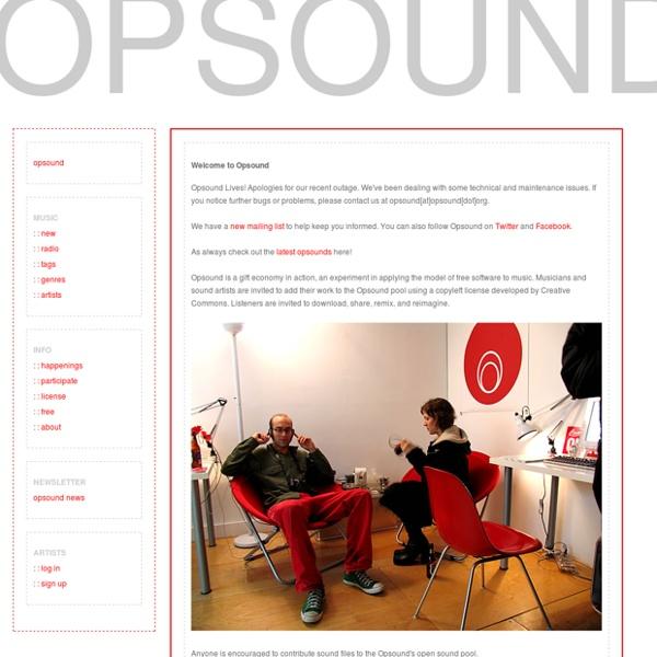 Opsound: free love, free music