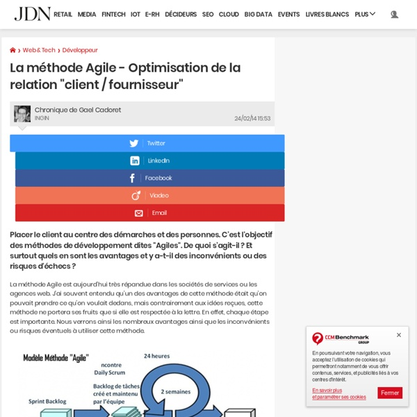 """La méthode Agile - Optimisation de la relation """"client / fournisseur"""""""