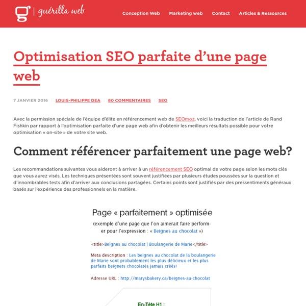 Référencement SEO Parfait d'une Page Web