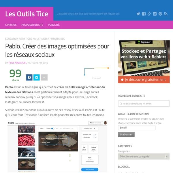 Pablo. Créer des images optimisées pour les réseaux sociaux