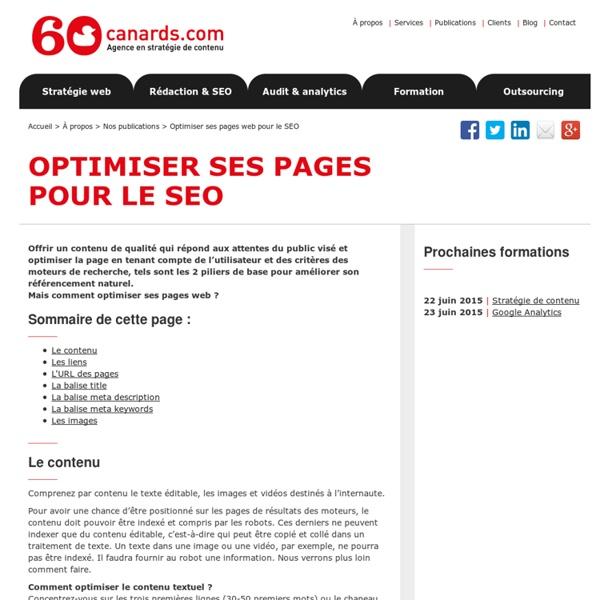 Comment optimiser ses pages web pour améliorer son référencement naturel
