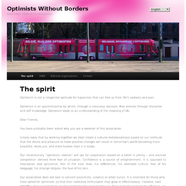 Optimistes Sans Frontières - le mot du Président