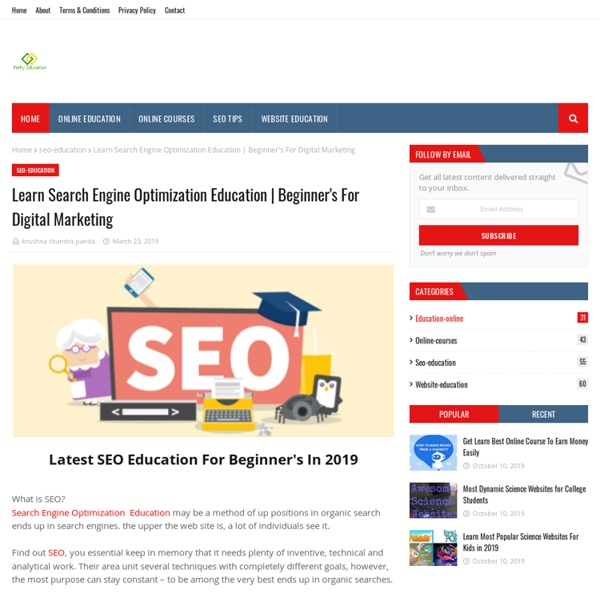 Learn Search Engine Optimization Education
