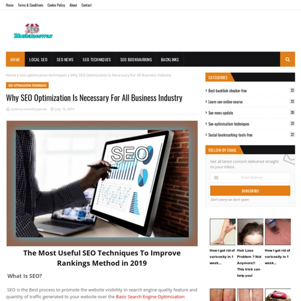 Why SEO Optimization Is Necessary For All Business Industry