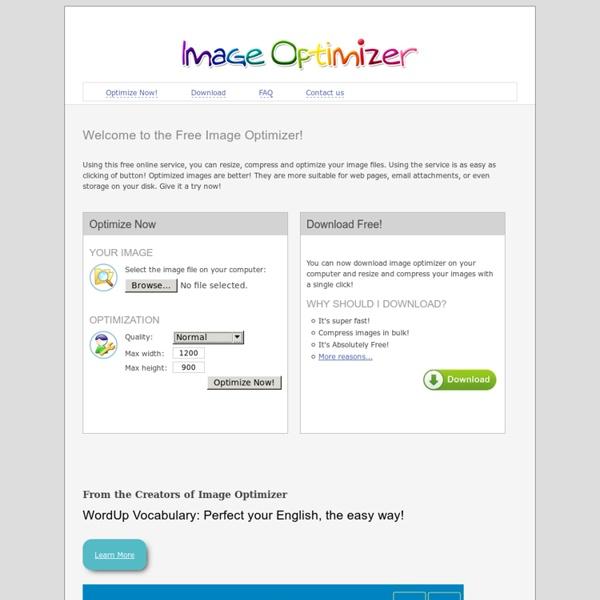 Free Image Optimizer - Compress and resize photos