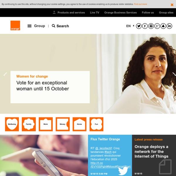Corporate Website of Orange