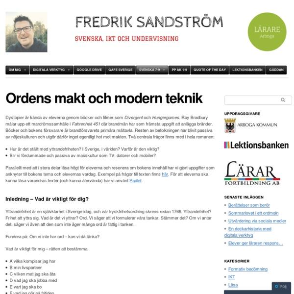 Ordens makt och modern teknik
