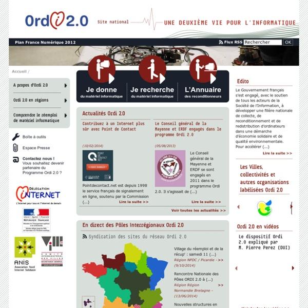 Trouver, recycler son matériel informatique... Ordi 2.0