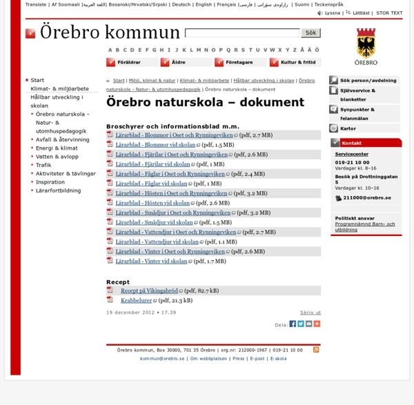Örebro naturskola - dokument