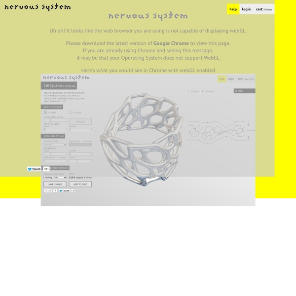 Cell Cycle - WebGL design app - create organic designs for 3d printing