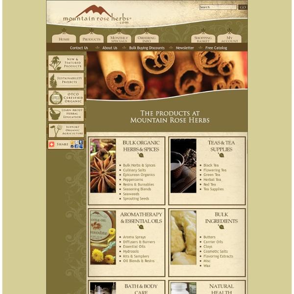 Bulk organic herbs, spices & essential oils