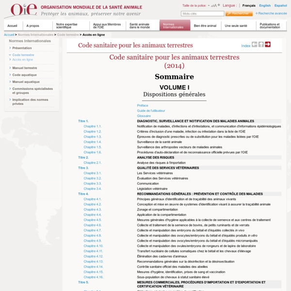 OIE - Code zoosanitaire : varroose