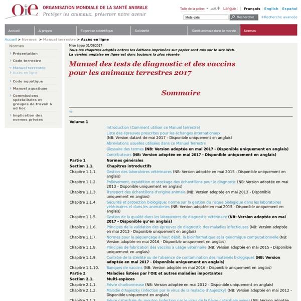 Manuel terrestre de l'OIE 2011 - Peste des petits ruminants
