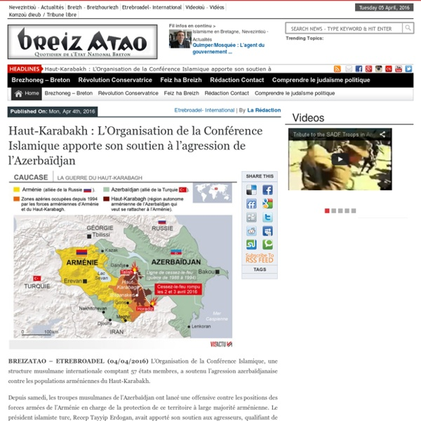 Haut-Karabakh : L'Organisation de la Conférence Islamique apporte son soutien à l'agression de l'Azerbaïdjan