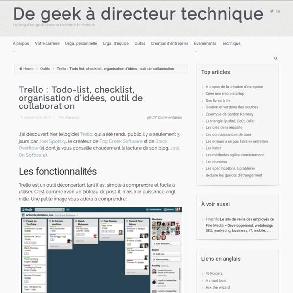 Trello : Todo-list, checklist, organisation d'idées, outil de collaboration