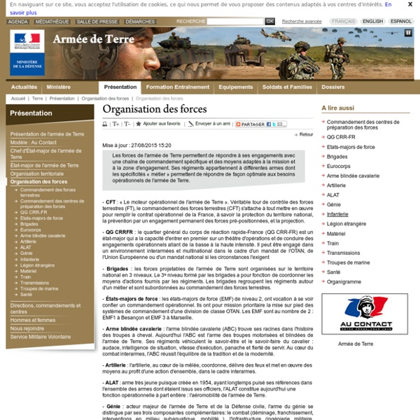 Organisation des forces