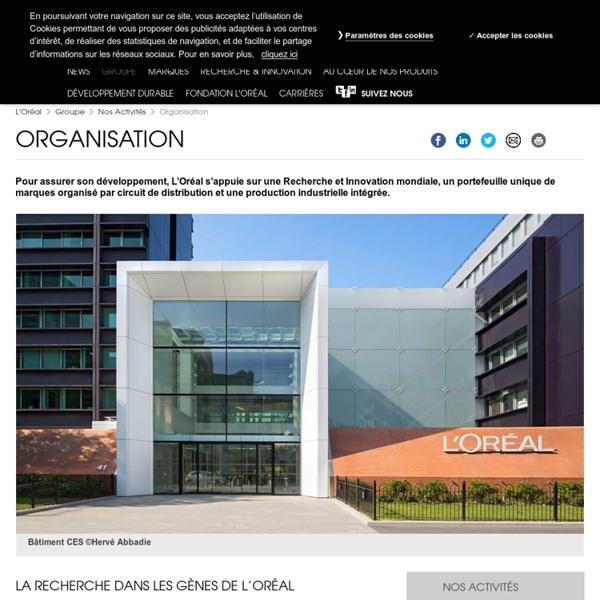 Organisation : Recherche & Innovation, production, circuit de distribution