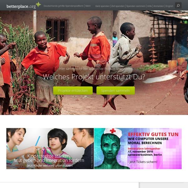 Spenden für Projekte & Organisationen - online transparent helfen