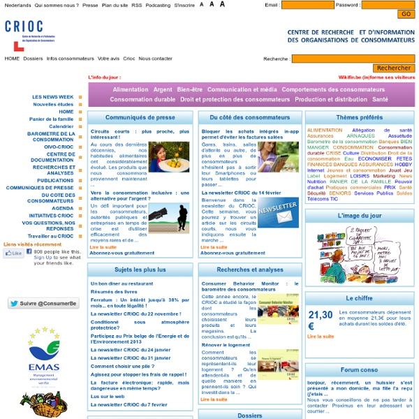 OIVO-CRIOC - CRIOC / Centre de recherche et d'information des organisations de consommateurs