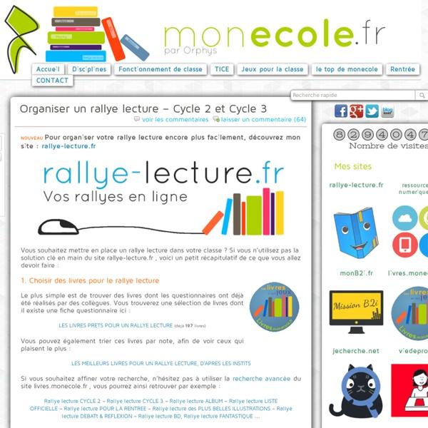 Organiser un rallye lecture, Monecole.fr
