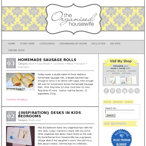 The Organised Housewife : Ideas for organising, decluttering and cleaning your home