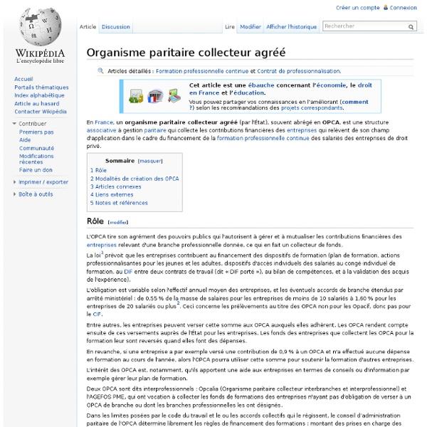 Organisme paritaire collecteur agréé