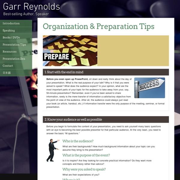 Organization & Preparation Tips