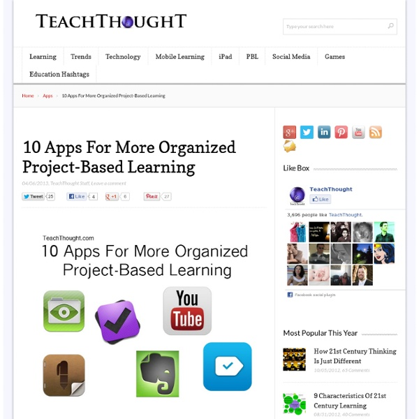 10 Apps For More Organized Project-Based Learning