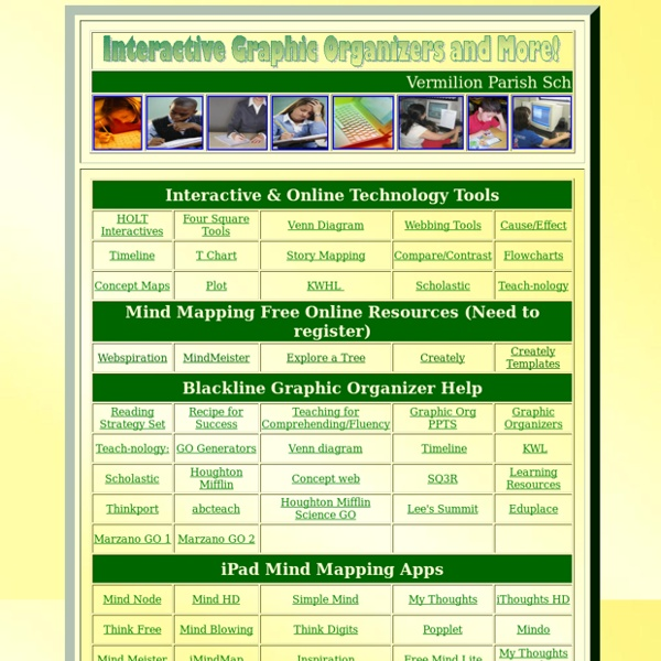 Graphic Organizer Interactives & 18 Literacy Strategy Site (Vermilion Parish)