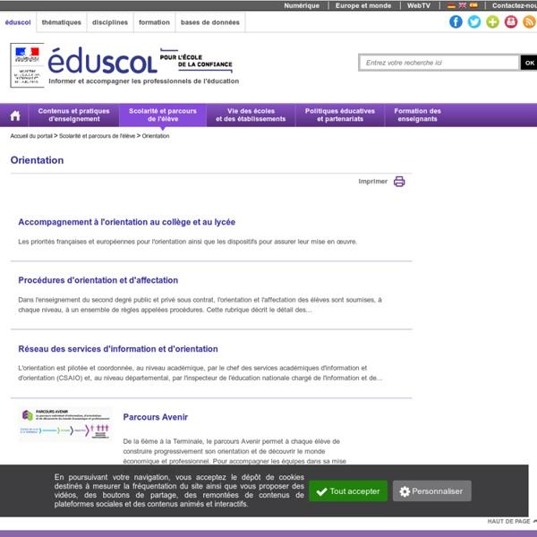 Orientation - EduSCOL