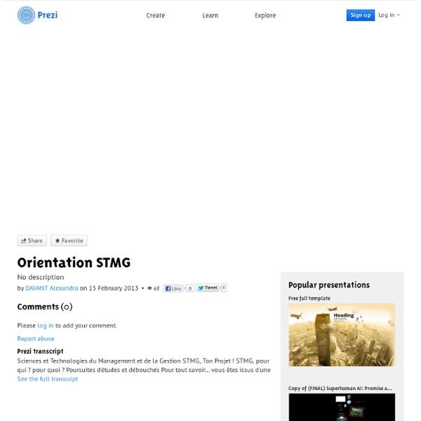 Orientation STMG by DAVANT Alexandra on Prezi