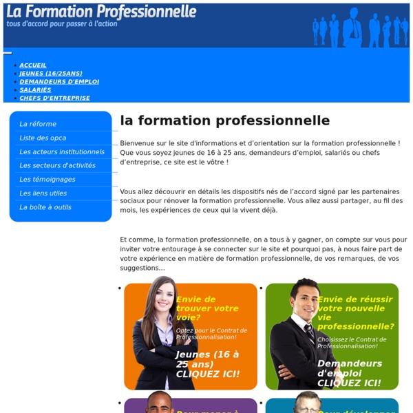 Le site d'orientation et d'information du grand public sur la réforme de la formation professionnelle
