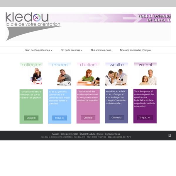 Kledou : test d'orientation gratuit et sans inscription