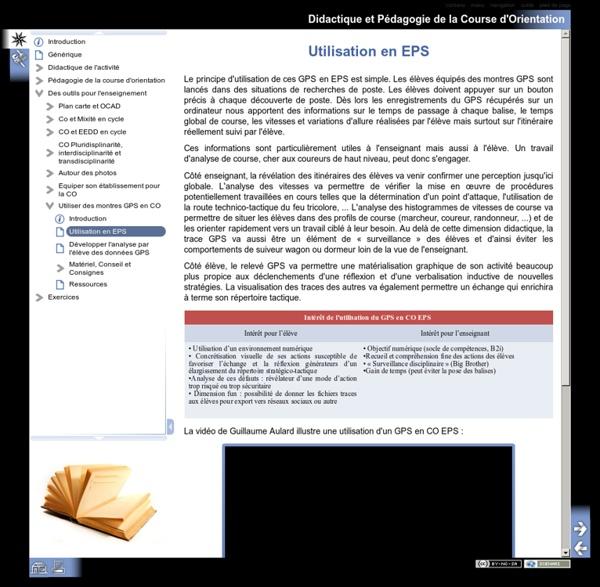 Didactique et Pédagogie de la Course d'Orientation - Utilisation en EPS