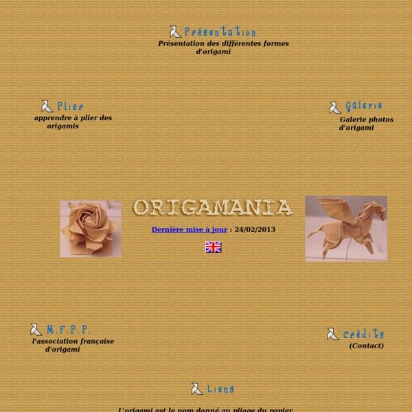 """""""Origamania : l'Origami ou l'art du pliage de papier (apprendre l'origami, plier des origamis)"""""""
