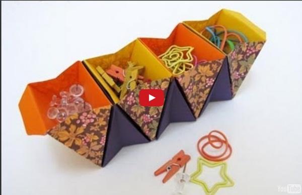 How to Make an Origami Accordion Box - Caja acordeon